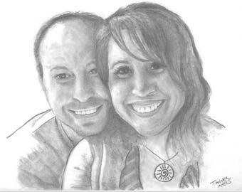 Custom Portraits, Wedding Portraits, Family Portraits, Graduation Portraits, Pencil Portraits, Graphite Drawings, Custom Drawings for Gifts