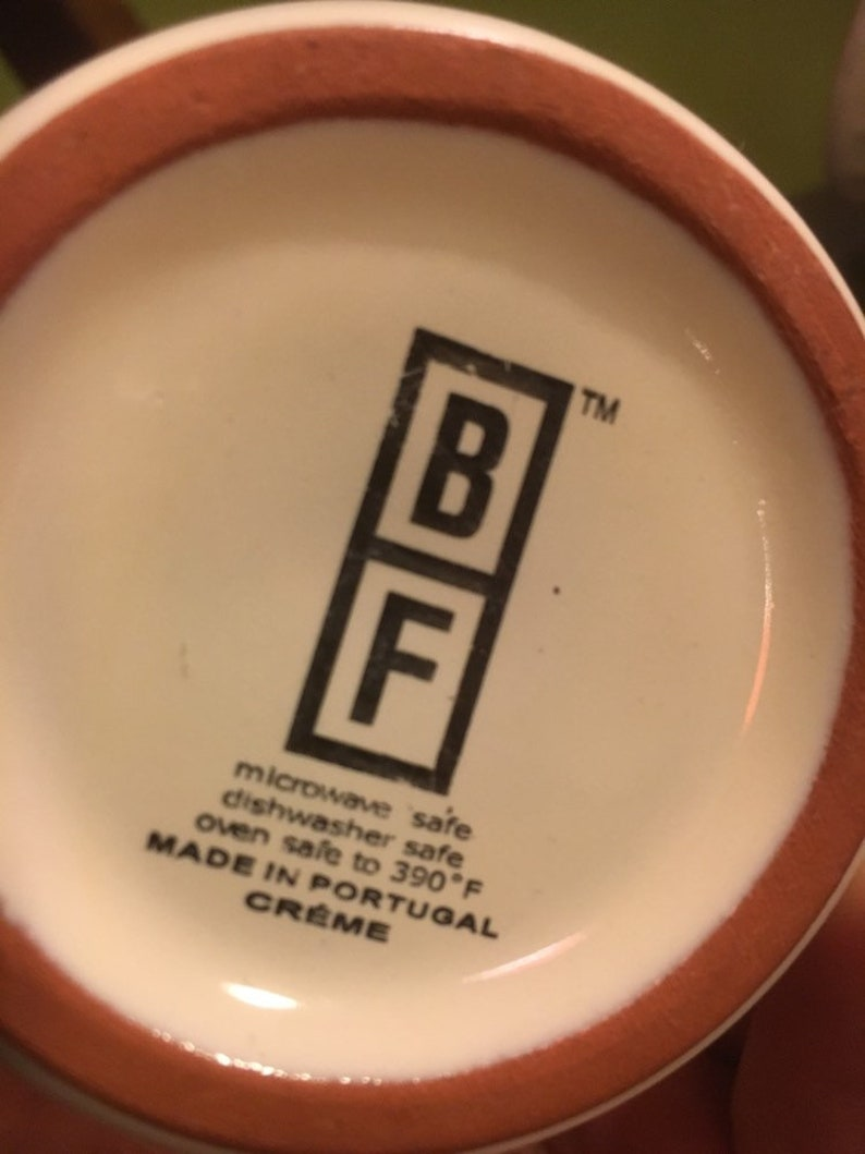 Stupendous Bobby Flay Bf Coffee Mugs And Stand Set Of Three In Great Condition Made In Portugalcreme Complete Home Design Collection Epsylindsey Bellcom