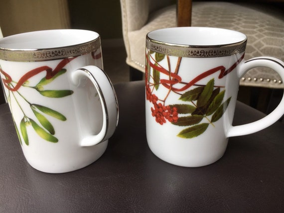 Fabulous Charter Club Grand Buffet Platinumfine Porcelain Coffee Mugs Set Of Two Used In Great Condition Home Interior And Landscaping Sapresignezvosmurscom