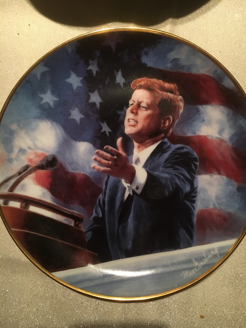 JFK limited edition numbered porcelain plate .A tribute to John F.Kennedy.