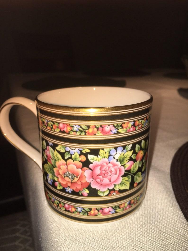 Gold Made Design Trim Bone floral China 1992 Mug Coffee England Genuine In Wedgwood 4jRqL5A3