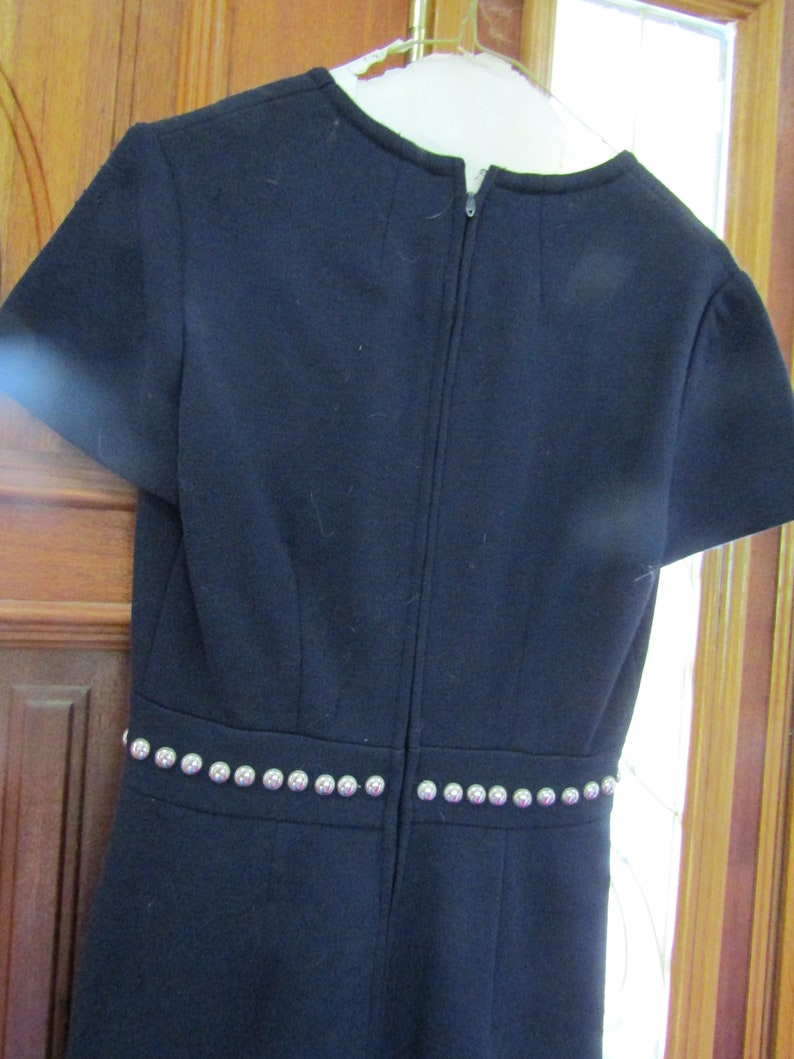 Smith /& Jones 1970/'s Navy Blue Suith with Rivet Detail