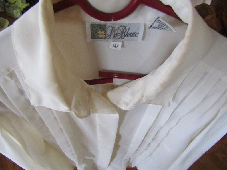 Vintage Ivory Career Blouse size 14 LeBlouse