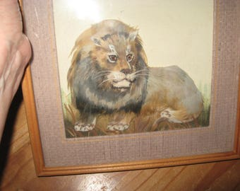 King of the Jungle or King of the Couch?   Framed Soft Sculpture
