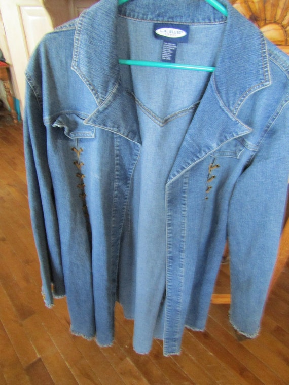 L A Blues Denim Duster, XL