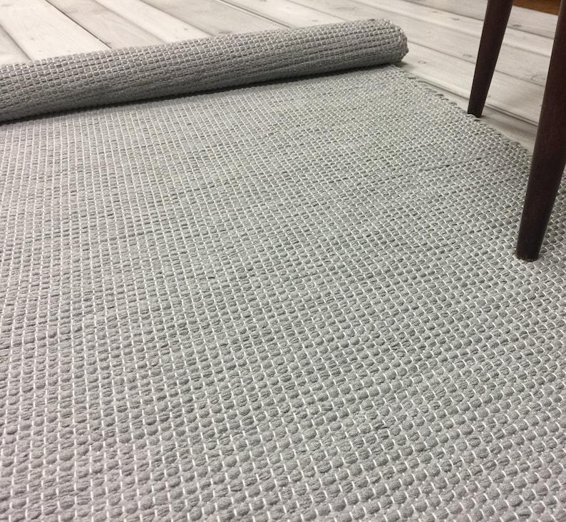 Washable Cotton Runner Rug Kitchen Floor Rug Scandinavian Etsy