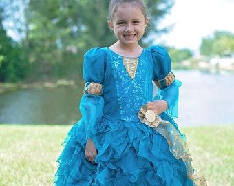 merida baby dress costume themed gift dress. birthday merida brave baby dress M\u00e9rida brave baby dress inspired in merida brave dress