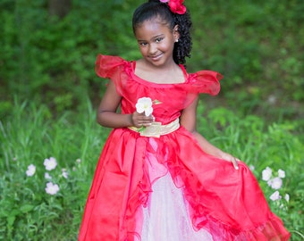 girl READY TO SHIP Elena Dress  Disney Inspired Princess Elena of Avalor Inspired Costume  Princess Dress for toddler child
