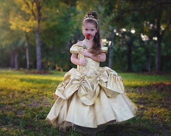 702d30b84d Belle Dress   Belle Costume   Disney Princess Dress Beauty and the Beast  Costume   Ball gown style for toddler