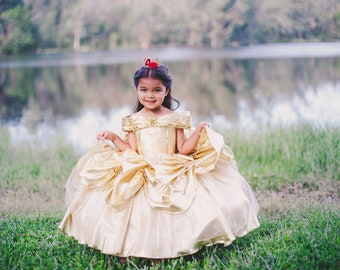 6fde53aee9 Belle Dress   Belle Costume   Disney Princess Dress Beauty and the Beast  Costume   Ball gown style for toddler