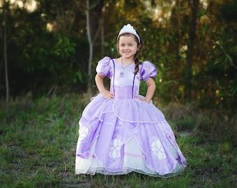 7875961e3 Sofia Dress / Disney Princess Dress Inspired Sofia the First Costume - Kids,  Girls, Toddler, Child