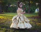 Belle Dress Belle Costume Disney Princess Beauty and the Beast Costume Ball gown style for toddler, child, girl Princess Costume