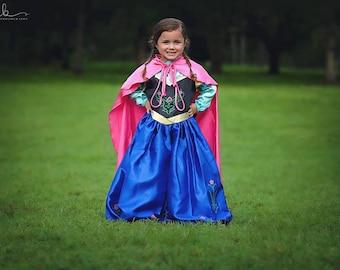 Anna Costume / Inspired Disney Princess Dress Frozen Anna Dress / Costume  / Girls, kids, toddlers, child Princess Costume