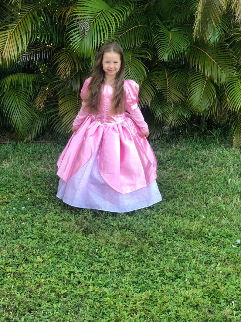 969cb7190664 Little Mermaid Dress / Disney Princess Ariel Inspired Costume / Ball gown  Pink Dress style for toddler, child, girl
