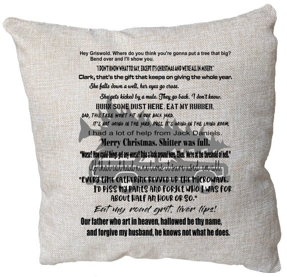 Quotes From Christmas Vacation.Christmas Vacation Movie Quote Pillow Christmas Vacation Movie Decor Christmas Vacation Quotes Christmas Vacation Gift Chevy Chase