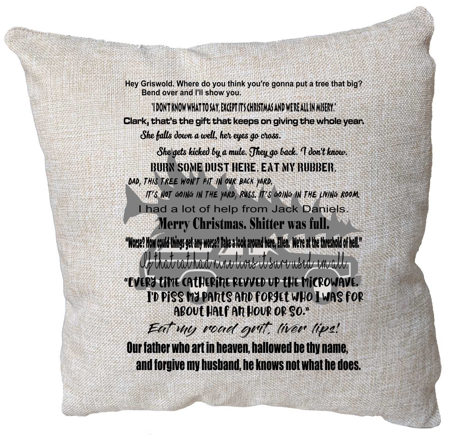 Christmas Vacation Movie Quote Pillow Christmas Vacation Etsy