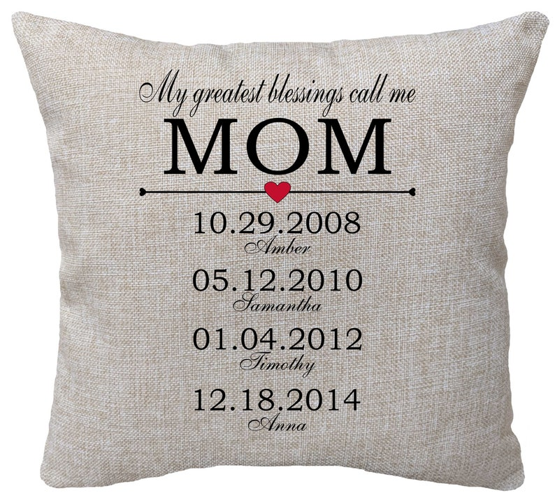 Personalized Mothers Day Pillow Birthday Gift For Mom F