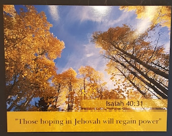 """JW Year Text 2018  """"Those Hoping in Jehovah"""" Magnetic Vinyl postcard size Gift"""