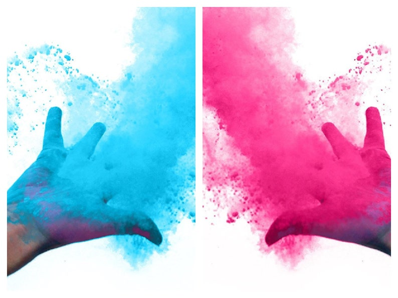 Color Powder Gender Reveal >> Gender Reveal Powder Packs Color Powder Baby Sex Reveal Party Boy Or Girl Team Pink Girl And Team Blue Boy Family Fun