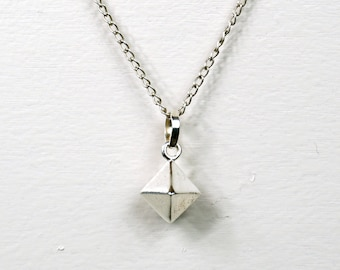 Sterling Silver Diamond Pendant necklace with 30' silver chain