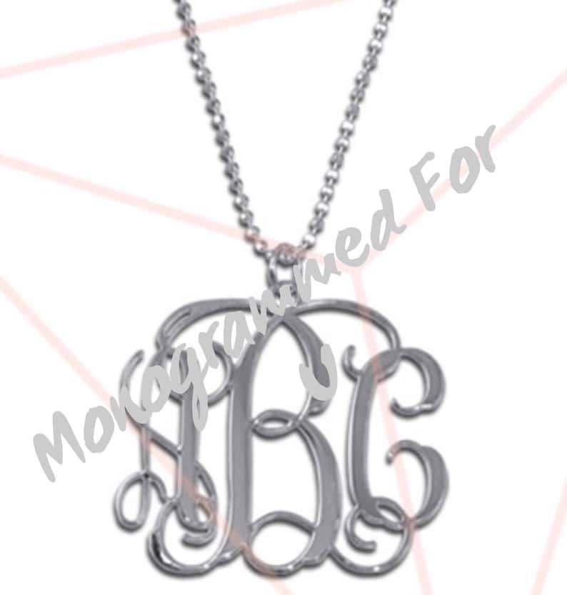 Monogrammed Sterling Sliver Necklaces