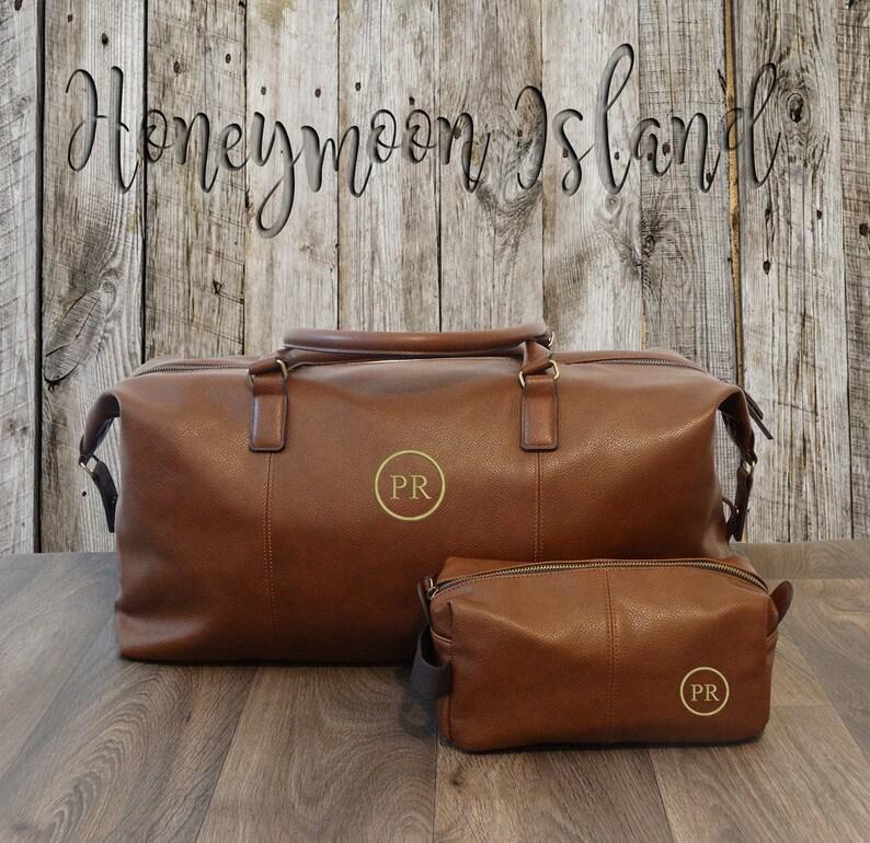 29f839f7ef Mens Weekender Bag Toiletry Bag Grooms Gift Set