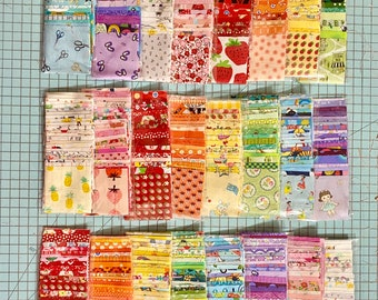 8 mini charm packs- one of each color