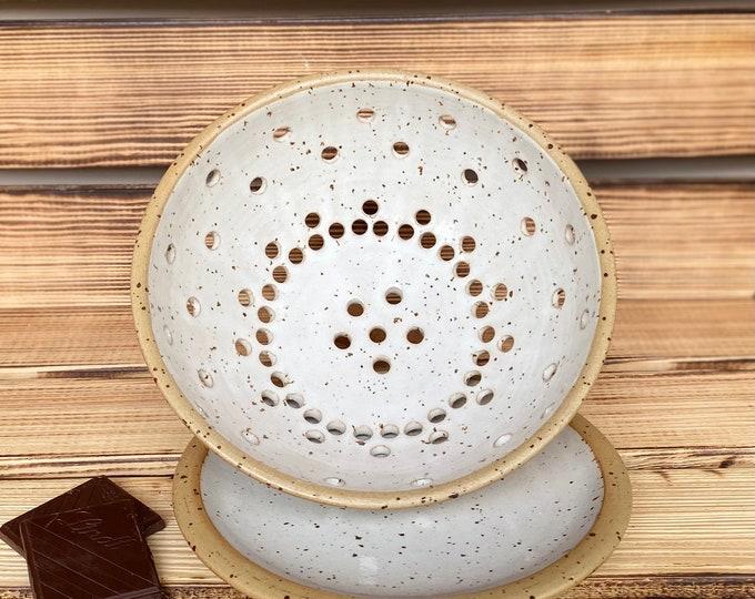 Obst Gemüse Sieb Keramik