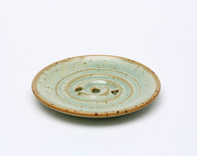 Seifenschale mit Spirale aus Keramik
