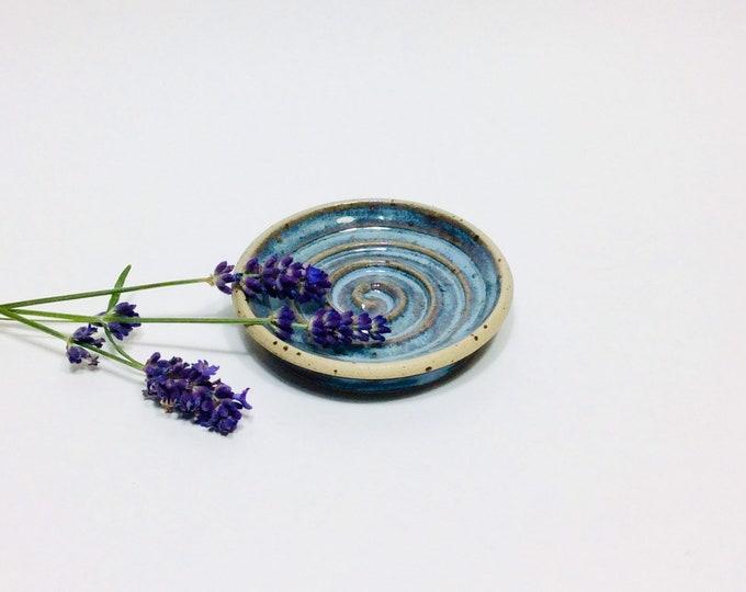 Seifenschale mit Spirale Keramik