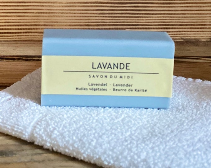 Lavendel Seife Seifenstück von SAVON DU MIDI