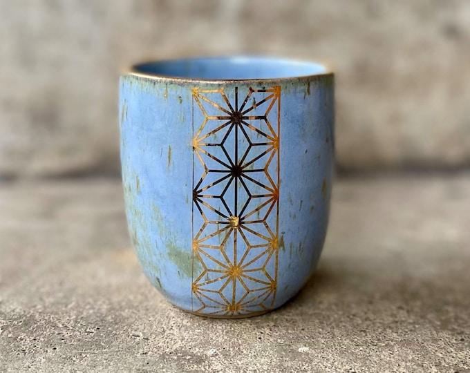Becher Keramik mit 12% Gold