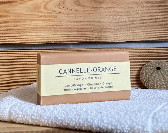 Orange Seife Seifenstück von SAVON DU MIDI Naturkosmetik