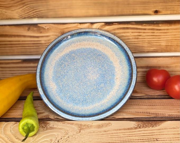 Frühstücksteller blau Keramik