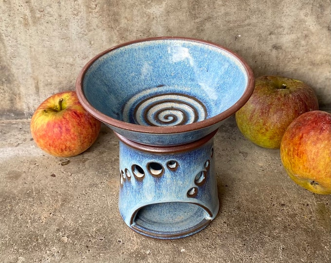 Aromaöl Lampe blau Keramik