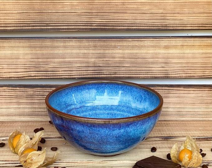 Schale Bowle Blau Keramik