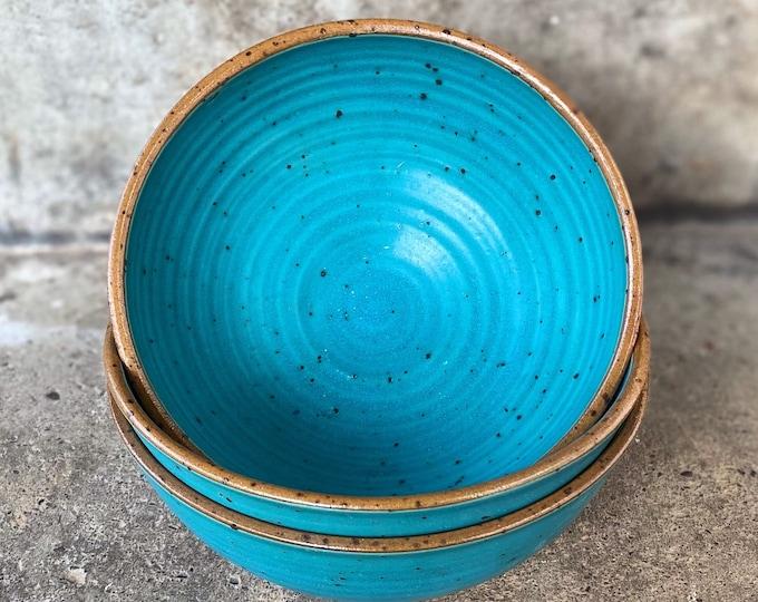 Müslischale Schale Türkis aus Keramik