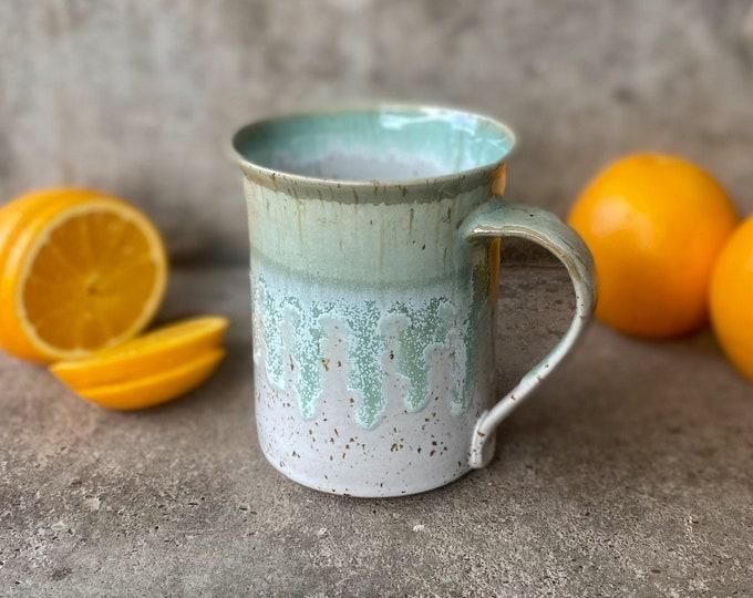 Tasse Keramik grüne Lagune