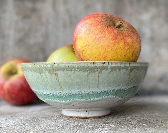 Dessertschale grüne Lagune 15 cm aus Keramik