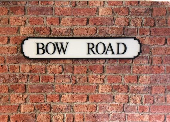 LOFTUS ROAD Vintage Wood London Street Road Sign
