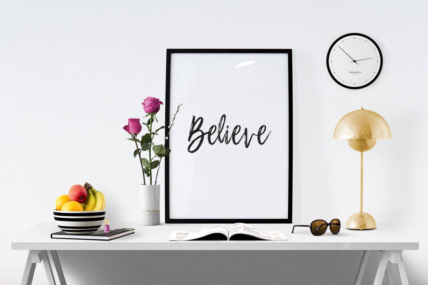 Inspirational Christian Wall Art Sign Believe Printable