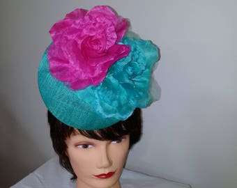 Jade and Pink Percher Head Piece