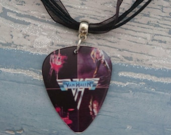 Van Halen Music Album - Plectrum Necklace - Album Cover Guitar pick Jewellery, Music Gift