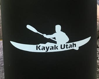 Kayak Utah Vinyl Sticker