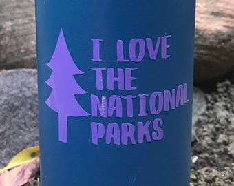 I Love the National Parks  Vinyl Sticker