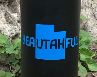 "Bea""utah""ful State of Utah Vinyl Sticker"