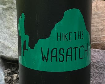 Hike the Wasatch Mountain Utah Vinyl Sticker
