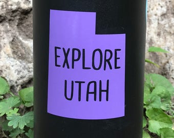 Explore Utah Vinyl Sticker