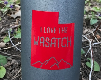 I Love the Utah Wasatch Vinyl Sticker