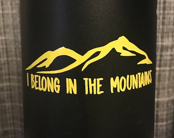 I Belong in the Utah Mountains Sticker